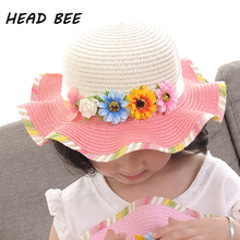 HEAD BEE font b 2018 b font Fashion Sun Hat Flower Lovely Summer Hat for