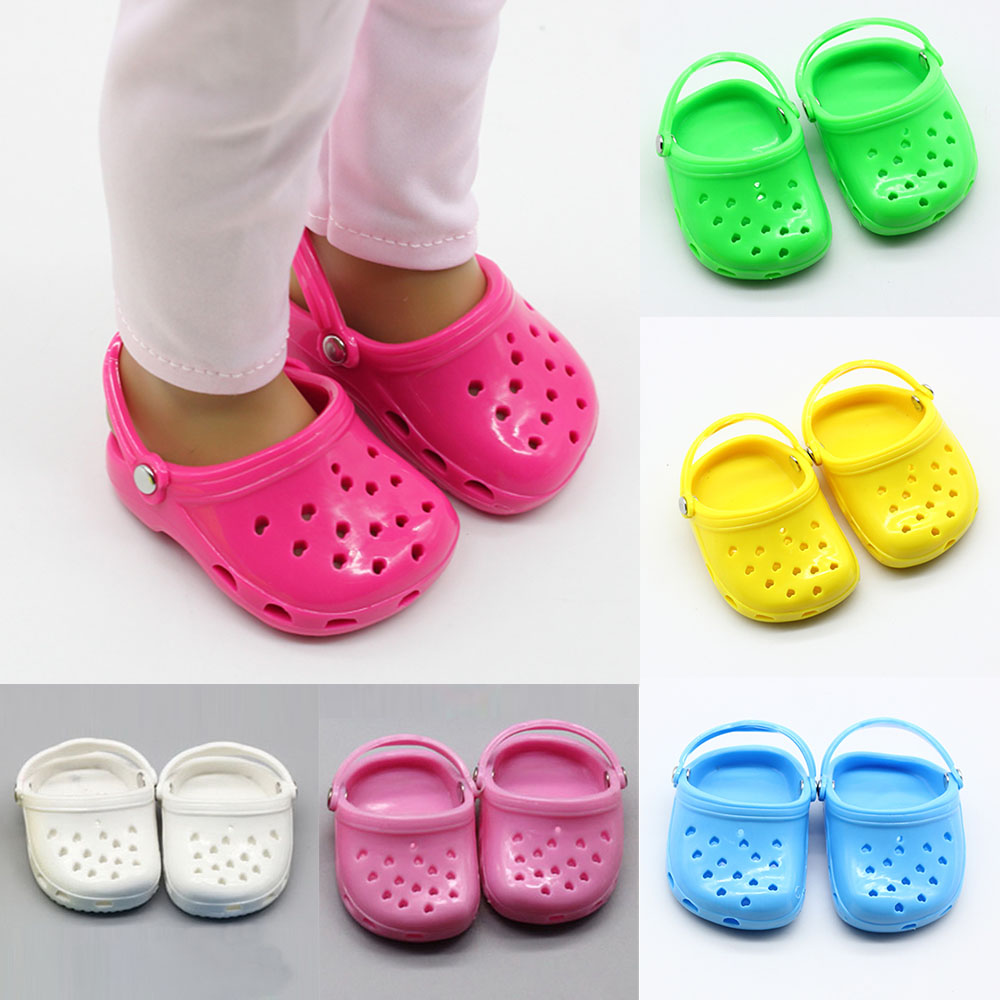 Summer Beach Sandals Slippers Shoes for 18 inch Girl Dolls Baby Toys Fashion Shoes Sandal fit 43cm Height American Dolls(China)