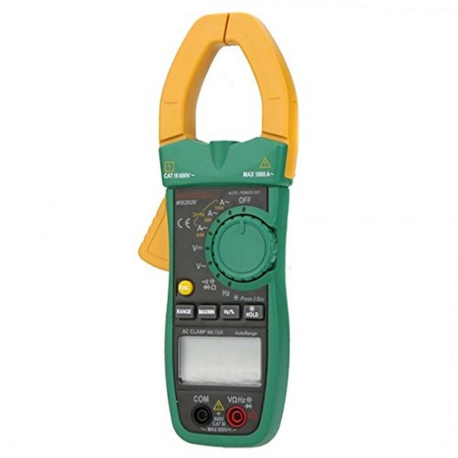 Hot Mastech MS2026R Digital Clamp Meter Tecrep Tester AC Ammeter AC/DC Voltmeter Resistance Frequency Detector Multime 1pcs mastech ms2026r auto