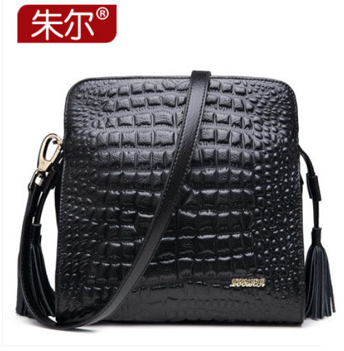 high quality Famous brand women bag 100% genuine leather bag fashion Crocodile pattern  Women  Messenger Bag black beige