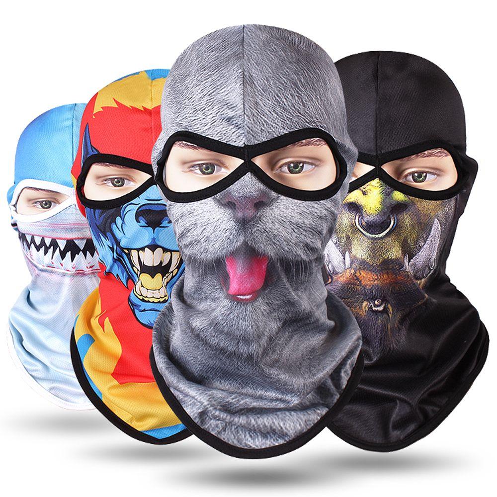 1 Stück Männer Der Mode 3d Winter Wärmer Tier Balaclava Fahrrad Bike Hüte Snowboard Tiger Party Halloween Helm Full Face Maske Dinge FüR Die Menschen Bequem Machen