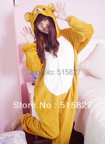 New Ladys fashionable design Bear Costume Onesie Sleepcoat Cosplay Japan Anime in Stock For Sale