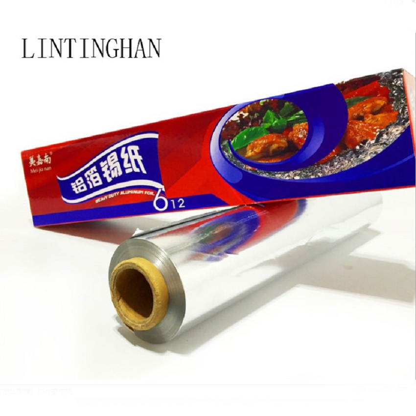 Length 120 meters 60 meters width 30 cm 38 cm 45 cm field barbecue outdoor aluminum foil paper Household tin foil the mall