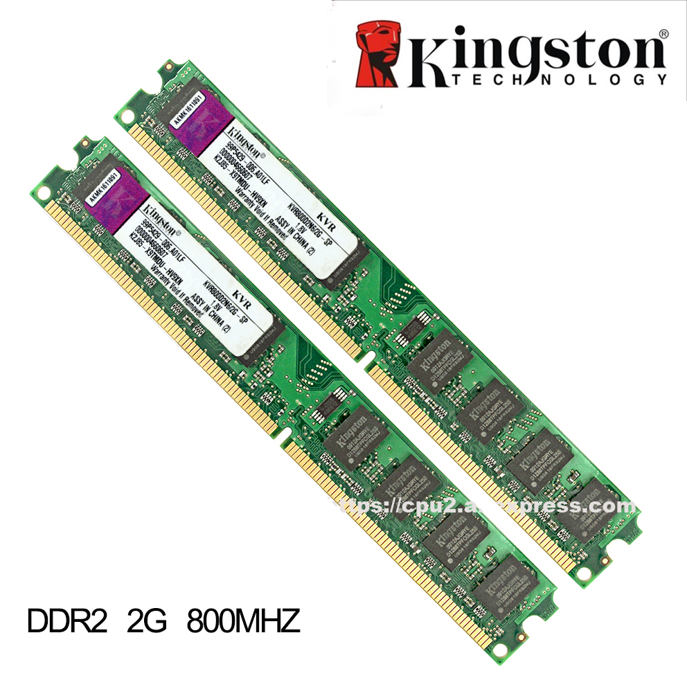все цены на  Original Kingston 2GB RAM DDR2 4GB =2pcs*2G PC2-6400S DDR2 800MHZ 2GB PC2-5300S 667MHZ Desktop