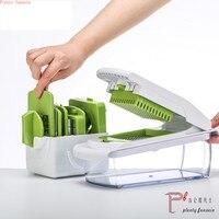 Kitchen accessory Mandoline Slicer knife Food Chooper Vegetable potato Cutter Peeler Grater kitchen tool with 7 Dicing Blades