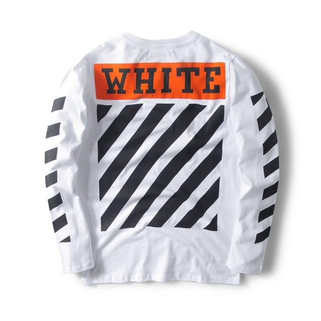 off white Orange box flocked field Long Sleeve T-Shirt off-white c/o virgil abolh L/S crewneck Tee new Tag