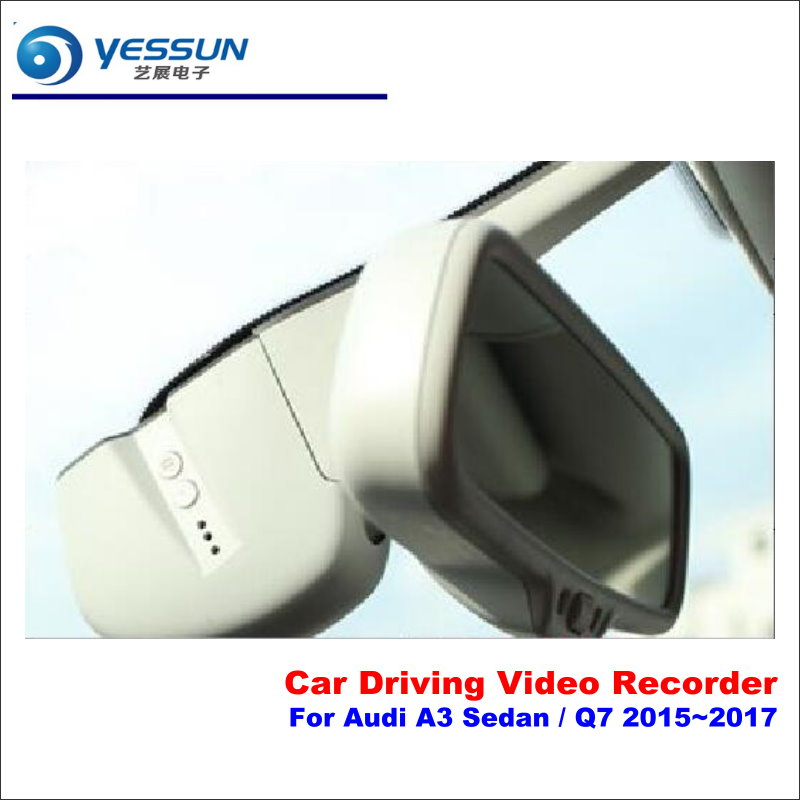 YESSUN For Audi A3 Sedan / Q7 2015~2017 Car DVR Driving Video Recorder Front Camera Black Box Dash Cam - Head Up Plug Play OEM цена