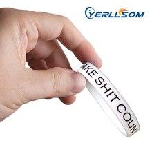 Yerllsom 100 pçs/lote alta qualidade personalizado impresso bandas de borracha para presentes promocionais p041502
