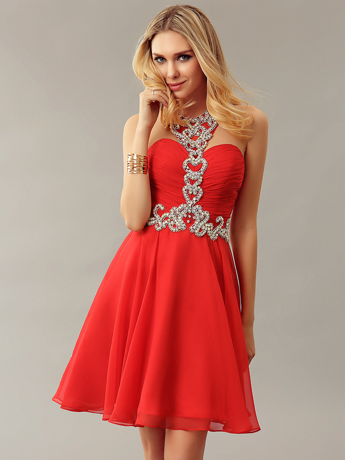 Popular Red Cocktail Dress Juniors-Buy Cheap Red Cocktail Dress ...