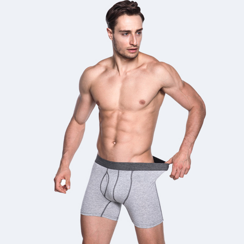 <font><b>Cotton</b></font> Long Leg <font><b>Boxer</b></font> Men Underwear Breathable Comfortable Panties Solid Underpants Mens <font><b>Boxers</b></font> <font><b>Homme</b></font> Bokserki Cueca Masculina image