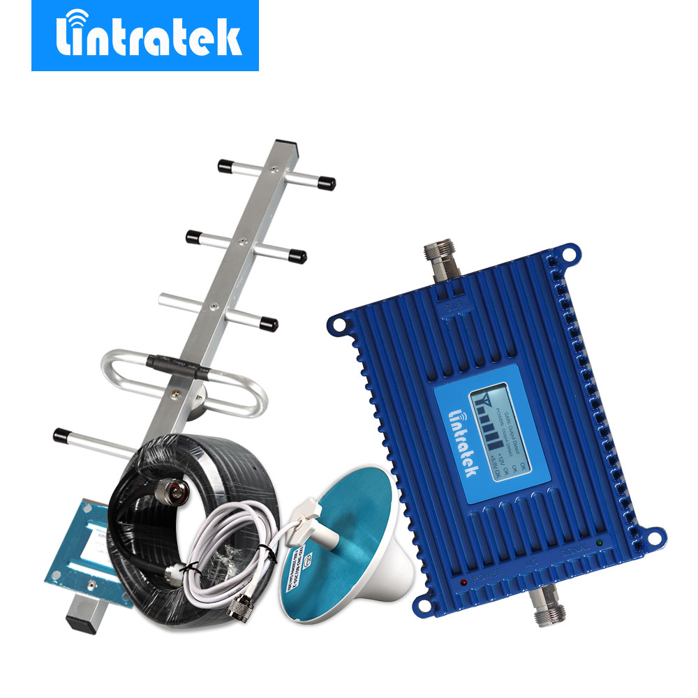 Lintratek LCD High Gain 70db Celular Repetidor 850 Mhz Mobile Phone Signal Repeater GSM/CDMA 850MHz (B5) Amplificador Full Set @