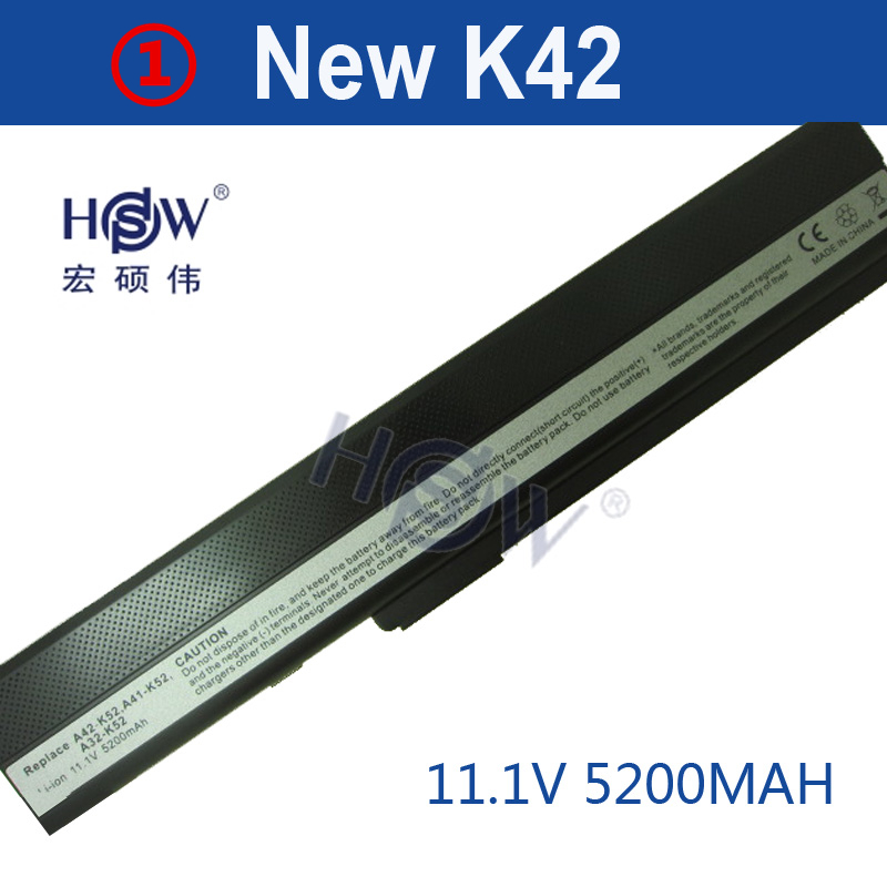 HSW 5200mAh battery for Asus K52 K52J K52JB K52JC K52JE K52JK K52JR K52N K52D K52DE K52DR K52F K62 K62F K62J K62JR K52IJ K52F k52 k52j k52jr k52jc k52dr x52f k52f x52j for asus usb board original dc power jack board 60 nxmdc1000 k52jr dc board