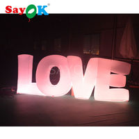romantic wedding party event love letter giant inflatable led letter display for stage decoration china manufactory hot sale!!!