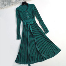 Quality Vintage Long Women Sweater Dress Ribbed Knitted Lurex Glitter Pullover Cocktail Tea Swing Female Jumper