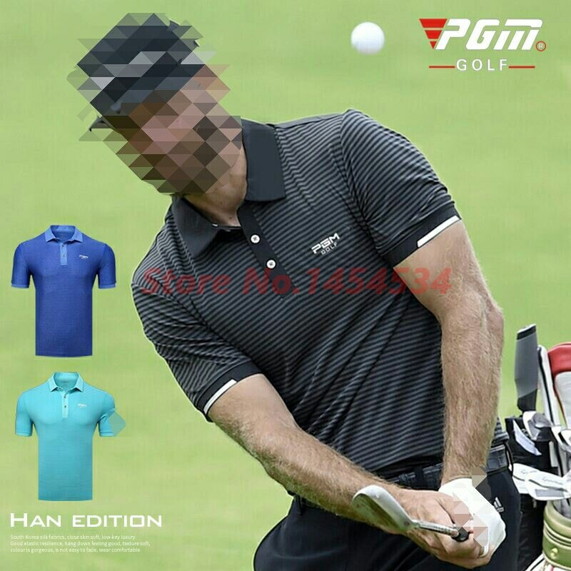 2019 new! Men's Tops Polo Short Sleeve T-shirt Summer Sports Golf Tennis Wear Suit <font><b>86</b></font>% <font><b>polyester</b></font>+<font><b>14</b></font>% <font><b>spandex</b></font> Shirt breathable image