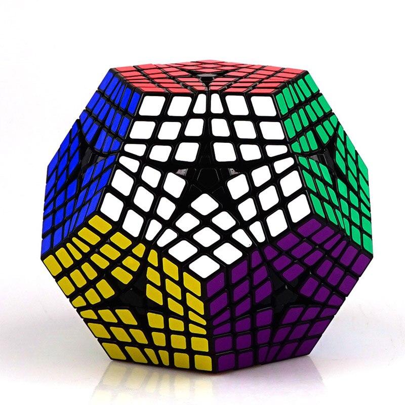 ShengShou 6rd commande Megaminx vitesse Cubes magiques vitesse sans bâton professionnel 12 côtés Puzzle Cubo Magico jouet éducatif pour enfants