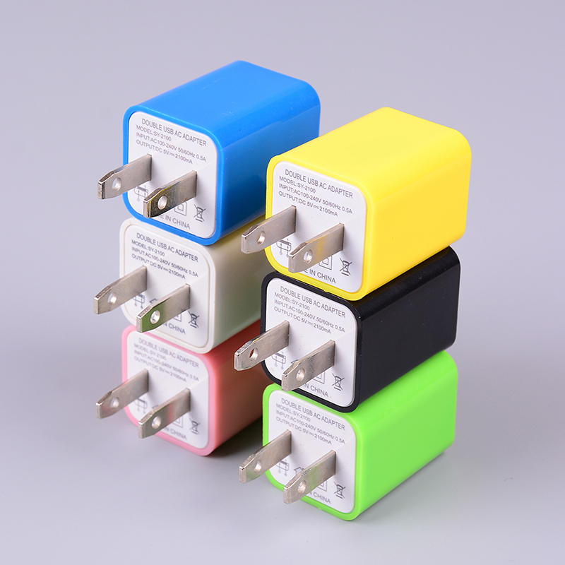 Power-Adapter Phone Us-Plug Wall Home-Charger Usb Ac Universal Travel 2-Port 5v 1a Dual