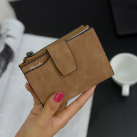 Wallet Female Purse Short Purse Lady Letter Snap Fastener Zipper Short Clutch Women Wallet Solid Vintage