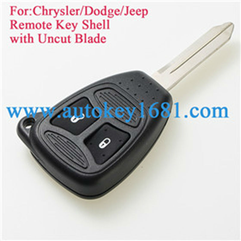 Case 2 New Replacement Remote Key Fob For Dodge RAM /& Jeep Cherokee Shell