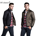 Brand Reversible Down Men's Jacket Ultra-light Men Travel Portable Thin Duck Down Coat Outerwear Down Parka Plus Size Jacket