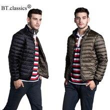Brand Reversible Down Men's Jacket Ultra-light Men Travel Portable Thin Duck Down Coat Outerwear Down Parka Plus Size Jacket