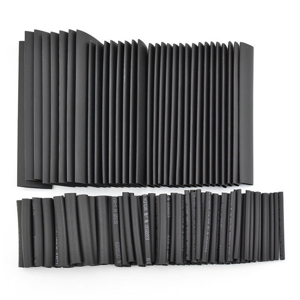Hot Sale!!!127pc Black Heat Shrink Tube Power Tool Accessories Assortment Wrap Electrical Insulation Cable Tubing best price mgehr1212 2 slot cutter external grooving tool holder turning tool no insert hot sale brand new