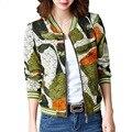 2017 Spring Fashion Print Jacket Women Leisure Slim Plus Size Coat O Neck Long Sleeve Autumn Jackets Casaco Feminino 2017 B165