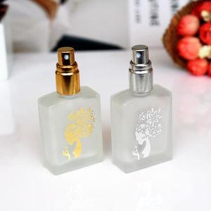 Image 3 - 1PC de 15ml de vidrio esmerilado frascos de perfume vacíos atomizador en spray botella recargable botella de perfume caso con tamaño de viaje portátil