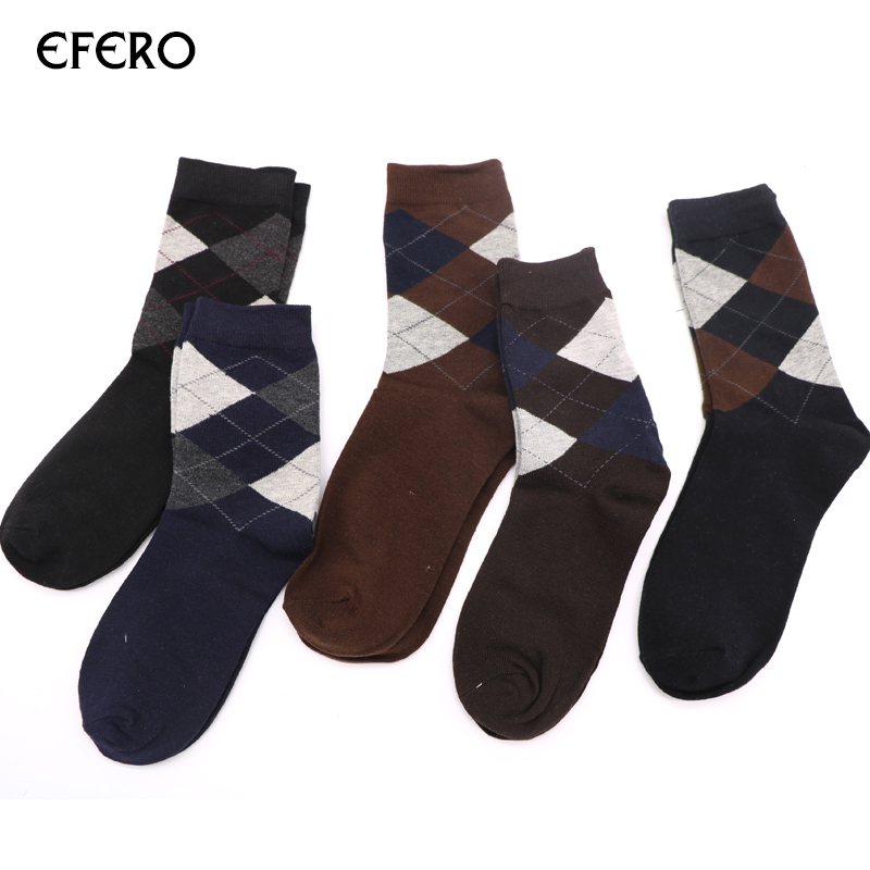 efero Men Socks Autumn Winter Warm Classical Long Thermal Cotton Socks for Male Fashion Business Compressie Dress Socks Sokken