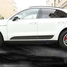 8b68af8f7c 6pcs Carbon Fiber Side Door Body Trim For Porsche Macan 2014 2015 2016 2017 Accessories  Car