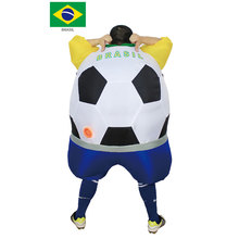 Inflatable Football Costume Carnival Halloween for Adults Soccer Player Party Fancy Dress