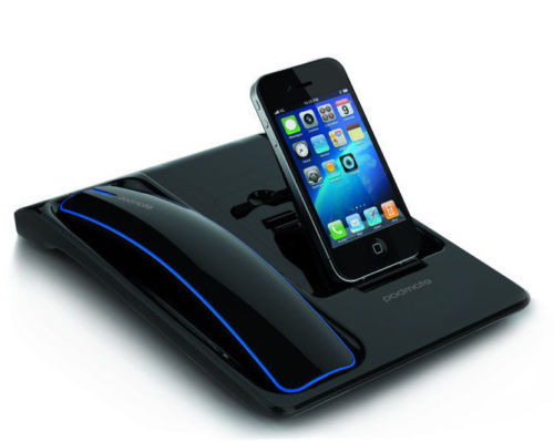 Padmate cordless bluetooth telefono w/docking station + ricarica per samsung iphone 4/4 s/5 in