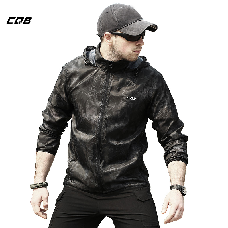 цена на CQB Outdoor Sports Tactical Military Camping Hiking Men's Jacket Sun Protection Quickly-dry Skin Cloth Camouflage UV Coat