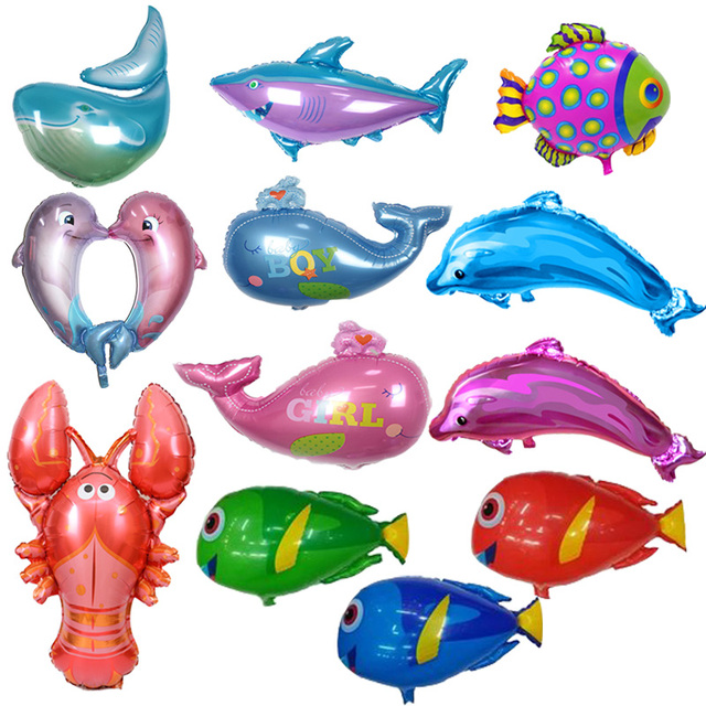 Fish Foil Balloons Inflatable Toys Sea World Party Balloon Birthday