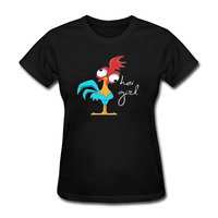 Holiday Funny T Shirt Women Game of Thrones Hey Girl Chicken Birds T-shirt Graphic Girl's Tshirt Tops Plus Size S