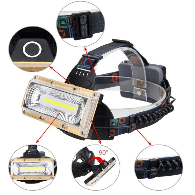 1300LM 30W COB LED USB Rechargeable Bicycle Headlamp Outdoor Sports Night Cycling Lamp 18650 New