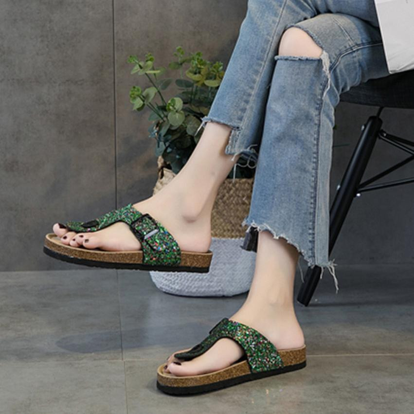 Fashion Sandals Womens Cross Toe Double Buckle Strap -6760