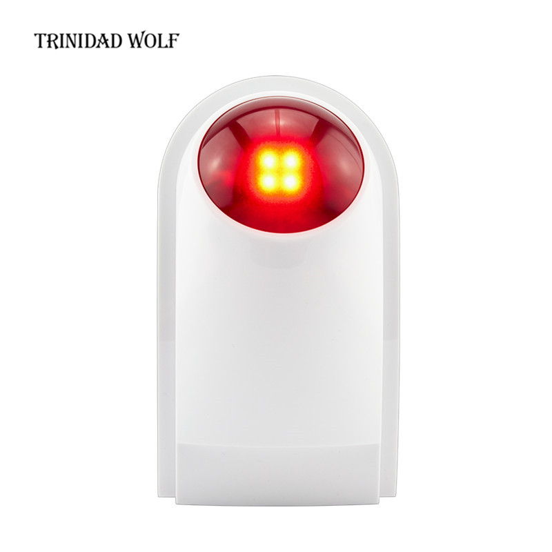 TRINIDAD WOLF Wireless Outdoor Siren Suit For Kerui Wifi GSM PSTN Alarm System Waterproof Siren Sound Strobe Flash Alarm Siren kerui wireless alarm outdoor waterproof flash siren sound strobe flash alarm siren for wifi gsm pstn home security alarm system