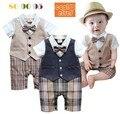 Малыш мальчики одежда красивый младенец мальчик лондон стиль мальчик одежда джентльменский комплект мода малыш мальчики одежда