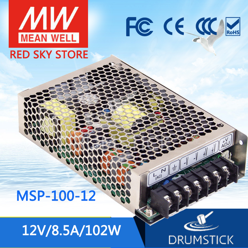 100% Original MEAN WELL MSP-100-12 12V 8.5A meanwell MSP-100 12V 102W Single Output Medical Type Power Supply 100% original mean well msp 100 36 36v 2 9a meanwell msp 100 36v 104 4w single output medical type power supply