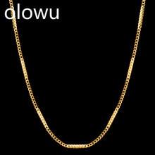 Olowu крошечная Изысканная Золотая Серебряная цепочка, ожерелье с подвеской, аксессуары для женщин, подарок для девушек
