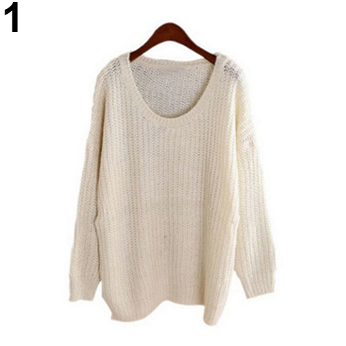 Fasion Women Temperament Oversized Batwing Sleeve Knitted Sweater Tops  Loose Cardigan Outwear Coat 7f20ad388