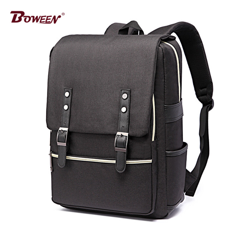 цена Casual men Backpack laptop canvas rucksack Schoolbag for teenage boy girl Large solid Back pack male back bag women bagpack new