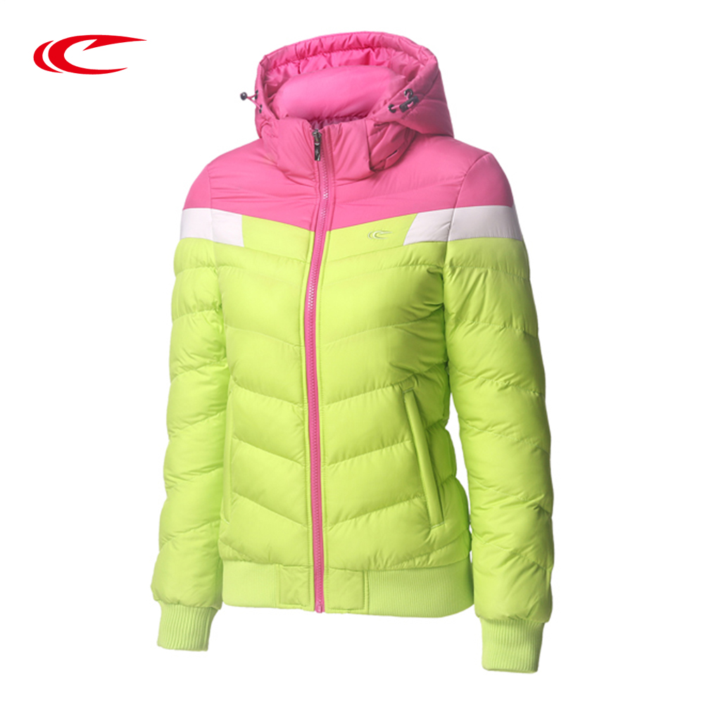 New Winter Jacket Women Hooded Coat Female Thick Sport jacket Women Cotton-Padded Color Patchwork Trainning Jackets цены онлайн