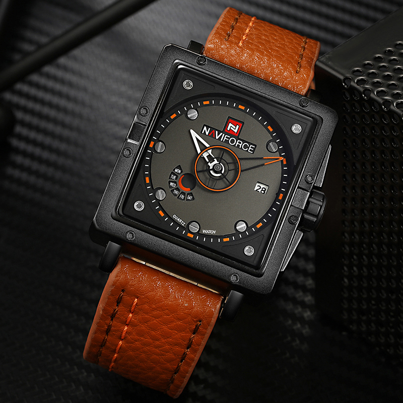 NAVIFORCE Big Dial Men Sports Watches Fashion Quartz Watch Men's Waterproof Luxury Brand Wristwatches Male Relogio Masculino ot01 watches men luxury top brand new fashion men s big dial designer quartz watch male wristwatch relogio masculino relojes