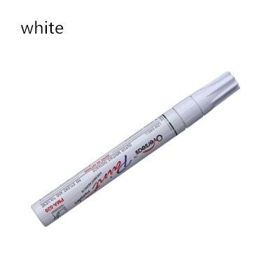 Водостойкая автомобильная ручка для ремонта царапин, автошины, протектора, краски, маркеры, граффити, фломастер на масляной основе, уход за краской, средство для удаления царапин, автостайлинг - Цвет: white