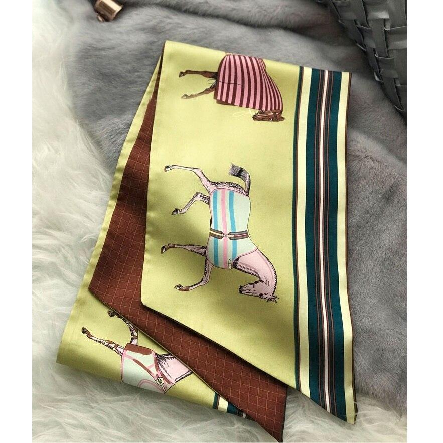 Fabulous Color 100% Silk Scarf Wraps Neckerchief Narrow Long Type 160x20cm
