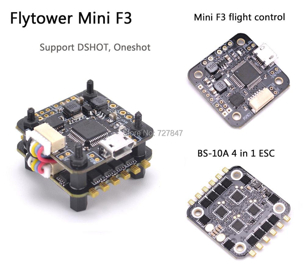 Flytower Mini F3 Flight control Integrated OSD 4 in 1 BLHeli ESC Built-in 5V 1A output BEC For FPV RC Drone ELF 88mm DK 80 F80 топ mango топ pia
