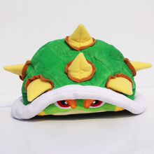 Super Mario Koopa Bowser Plush Hat doll Toy 21cm Soft Plush Cap for Christmas Gifts