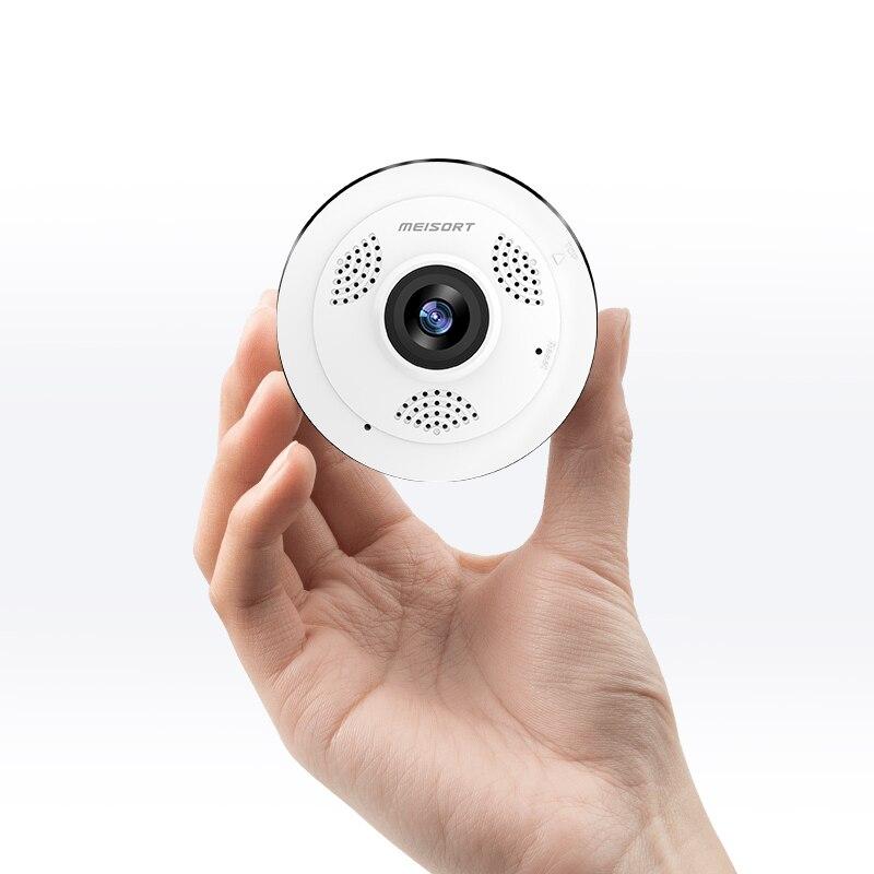 Meisort Wifi Mini cámara IP 360 grados de seguridad para el hogar cámara panorámica inalámbrica Fisheye CCTV 960 MP P P cámara de seguridad de vídeo